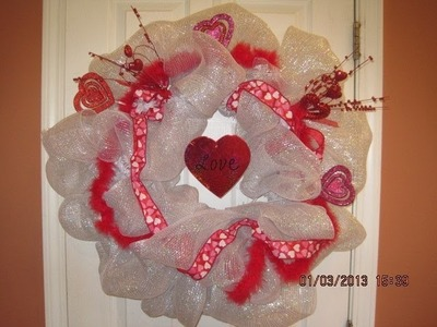 Every Holiday Deco Mesh Wreath