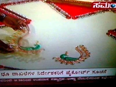 Festival Kundan motif rangoli demo-BANGALORE