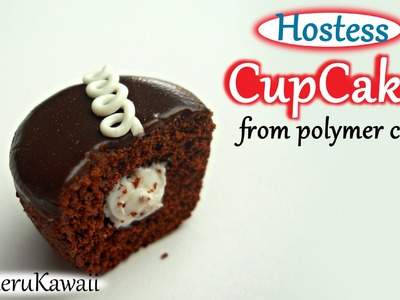 Hostess Cupcake Inspired Charm - Polymer Clay Tutorial