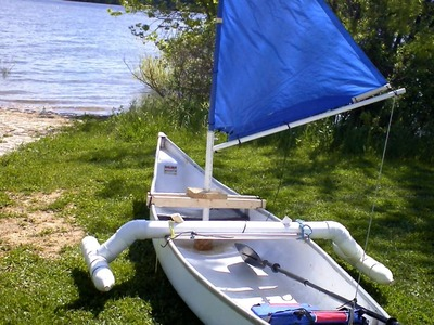 How to make a simple sail for a canoe,kayak,Dingy for about 20 dollars