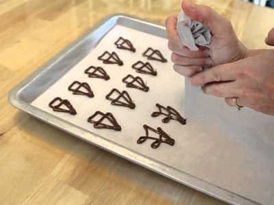 How To Make Chocolate Candy Decorations (Spritz)