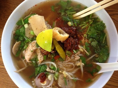 How to Make Khoy Teil.Pho (Rice Noodle Soup)-Cooking Cambodian.Khmer food with Elissa