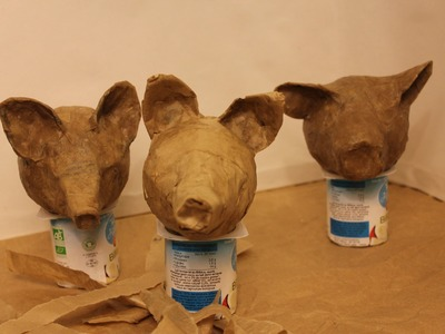 How to make papier mâché puppet heads ecologically. Marionnettes écologiques.Títeres ecológicos