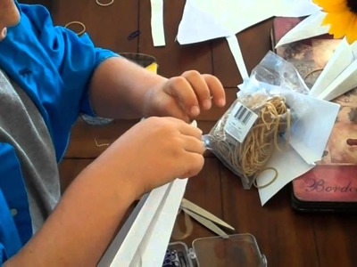 Making a Rubber Band Powered Paper Airplane