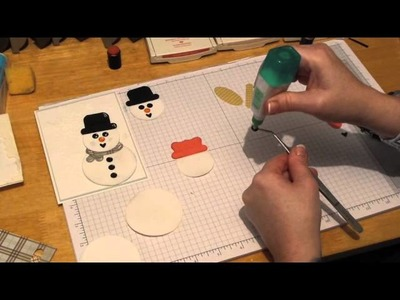 My Punch Art Studio   How to make Punch Art Snowmen