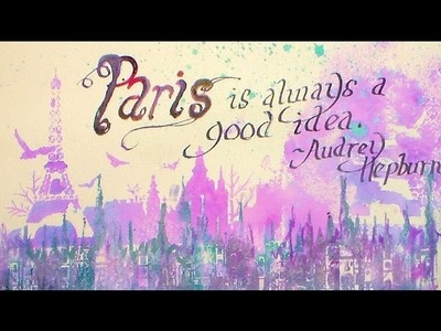 Paris {on-the-fly} Art Journal Page!