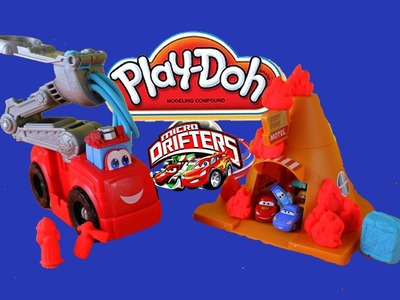 Play-Doh Boomer The Fire Truck Playdough Diggin' Rigs Cozy Cone Fire Cars Micro Drifters 2014