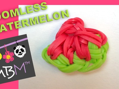 Rainbow Loom Fruit Off the Loom - Watermelon Slice Charm