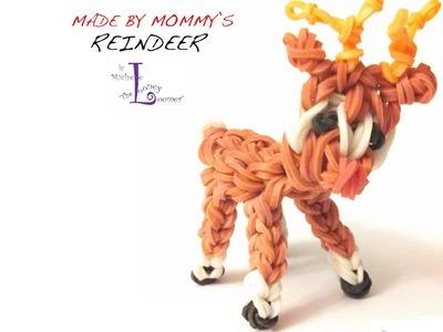 Rainbow Loom Reindeer Charm - Designed by Michele the Looney Loomer