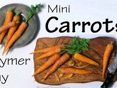 Realistic Miniature Carrots - Polymer Clay Tutorial
