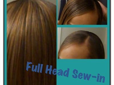 SEW IN Full Head Weave Tutorial