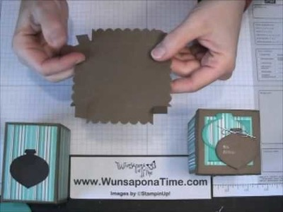 Stampin Up Ornament Window Gift Box