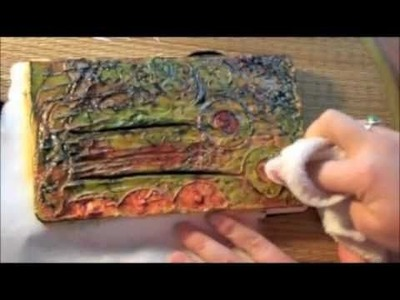 The One Minute Muse   Art Journal Technique   Joint Compound