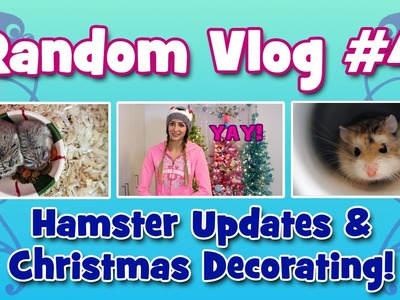 VLOG #4 - Hamster Updates & Christmas Decorating!