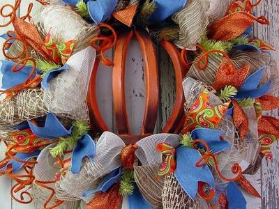 Autumn Pumpkin Wreath Tutorial