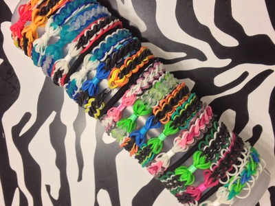 Bow And Chain Bracelet On Rainbow Loom (Part 1)