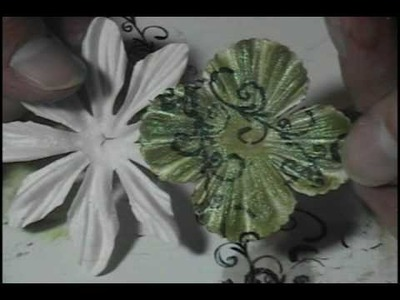 Color Your White Paper Flowers