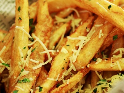 Fries Recipe | How To Make Crispy Garlic Fries