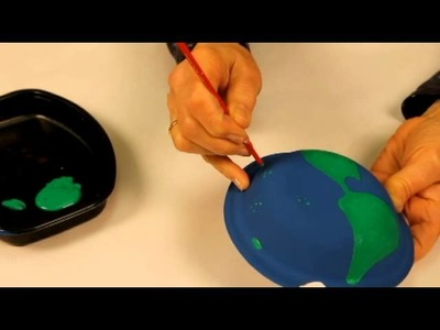 How to make a Globe with paper plates
