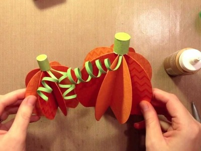 How to: make paper pumpkins
