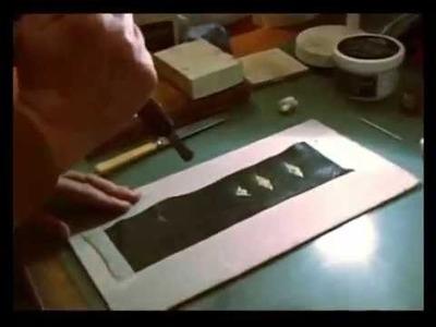 James Flavell Bookbinder & Restorer   -   Gold Leaf Tooling