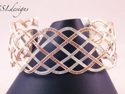 Open wire woven bracelet