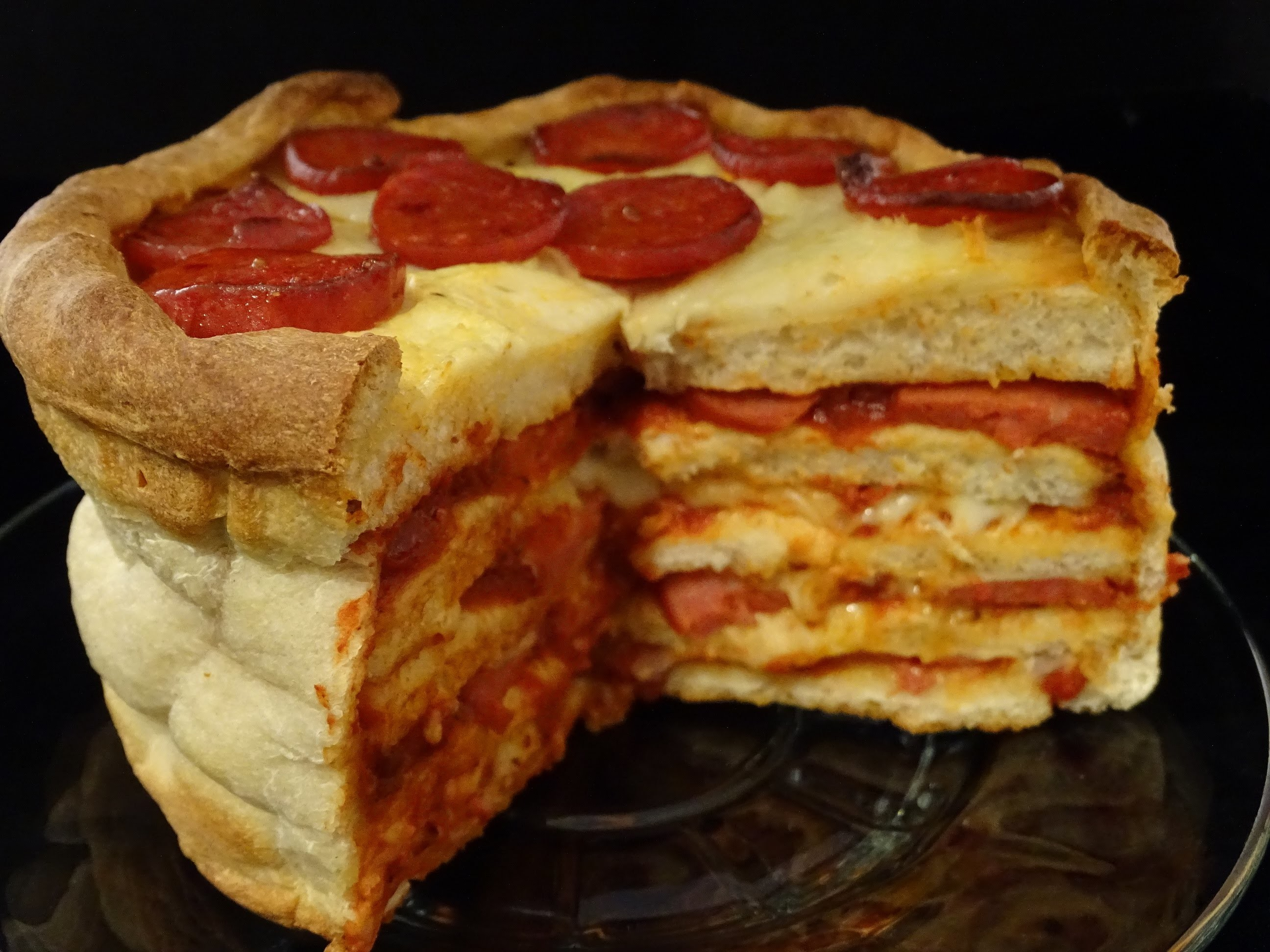 Pepperoni Pizza Cake -with yoyomax12