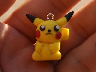 Pikachu Charm: Polymer Clay