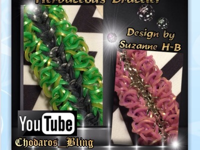 Rainbow Loom Band Herbaceous Bracelet Tutorial. How to