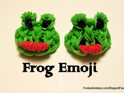 Rainbow Loom Frog Emoji.Emoticon charm - How to
