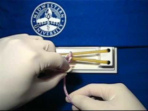 Surgical Knot Tying - One. Two Handed Knot and Surgeon's Knot