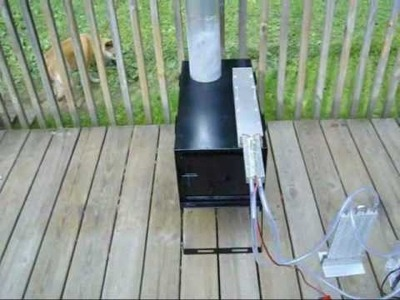Very first Made in The USA Thermoelectric Wood Stove Generator
