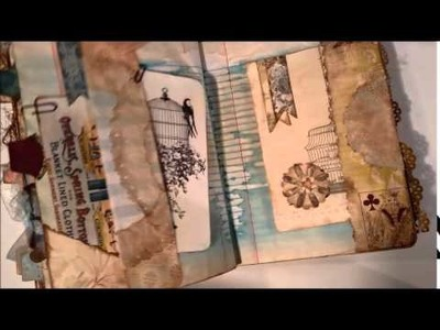 Altered Composition Book transformed - part 5 - into a Vintage Junk Journal - Flip through