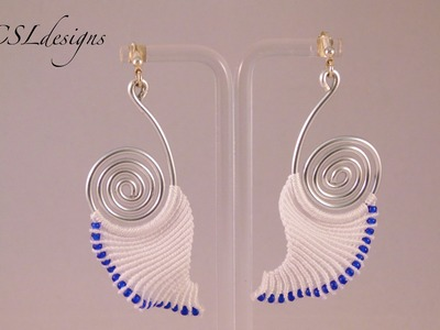 Angelic wire and macrame earrings