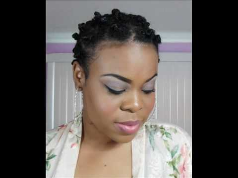 Bantu Knot Tutorial on Short Natural Hair - SimplYounique