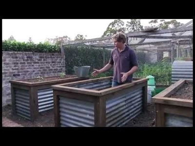 Chris Francis presents a method of constructing a group of raised vegie beds.