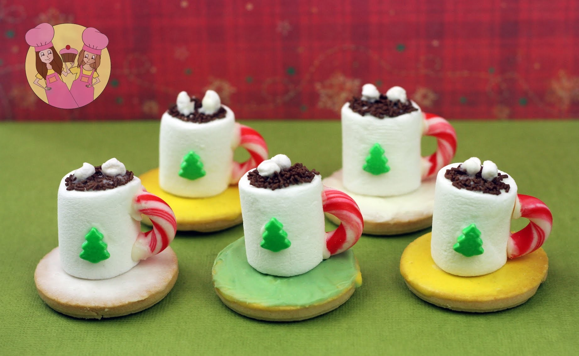 Christmas HOT COCOA TREATS - make mini hot chocolate cookie treats for santa with Charli & Ash