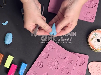 Creating Embellished Polymer Clay Hearts Using Molds