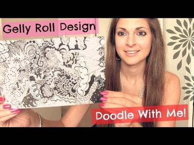 Doodle With Me! Time Lapse. Gelly Roll Design. Abstract Drawing.