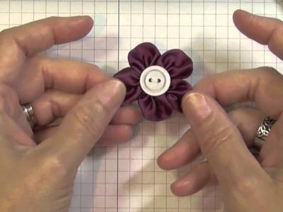 Handmade Flower Embellishement Using Ribbon and Contest Winner!