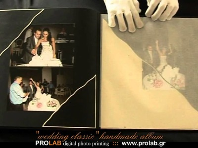 "Handmade wedding album ""WEDDING CLASSIC"" - created, printed and designed by PROLAB"