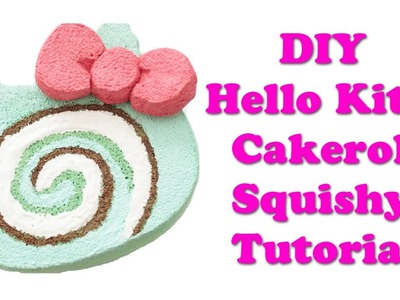 Homemade Hello Kitty Cakeroll Squishy Tutorial