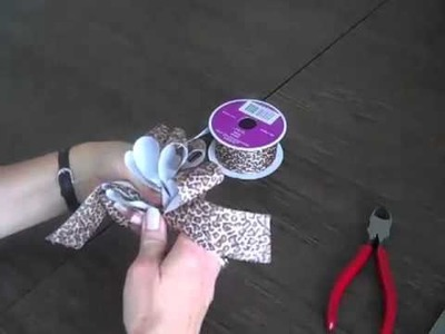 How to Make a Bow from Fabric Ribbon