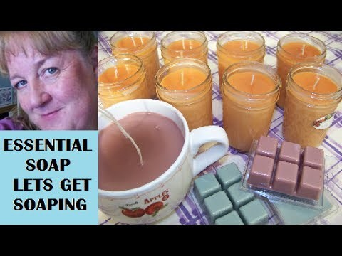 How to make Soy Candles and Tart Melts Tutorial with Essential Soap