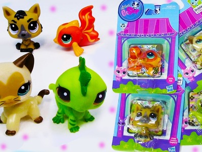 LPS Bobblehead Littlest Pet Shop German Shepard Dog Kitty Cat Iguana Goldfish #3573 #3562