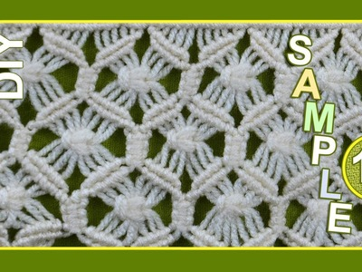 Macrame ABC - pattern sample #14