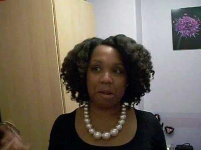 My Natural Hair Part 6 - FINAL Flat twist RESULTS!!