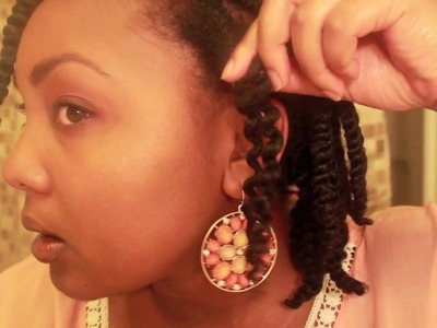 Natural Hair Dry Twist Out Tutorial