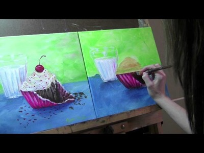 Paint a cupcake