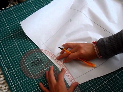 Pattern Cutting Tutorial: How To Transfer Draped Skirt Pattern Onto Paper